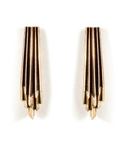 Brass Wind Wake Earrings
