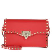 241cbfc1ea062 Valentino Umhängetasche - Rockstud Small Crossbody Bag Red - in rot -  Umhängetasche für Damen